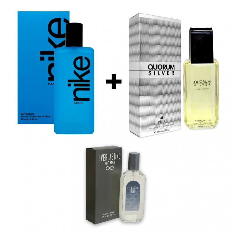 Nike Man Ultra Blue 100Ml + Quorum Silver 100Ml Varon (Un American Collection 80Ml De Regalo)